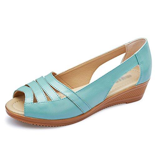 Verano Madre Regalo Zapatos Mujer Sandalias De Cuero La Día Zcjb sxQoBthrCd