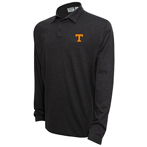 Volunteers Tennessee Sleeve Long (NCAA Tennessee Volunteers Men's Campus Specialties Long Sleeve Polo Shirt, Heather Black, Large)