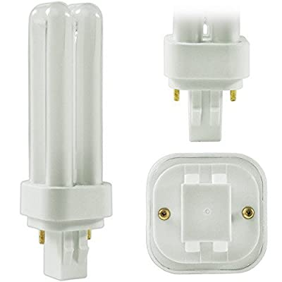 Pack of 10 PLD 13W GX23-2 835, 13 Watt Double U Shaped Tube, 2 Pin Compact Fluorescent Light Bulb