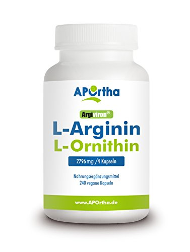 APOrtha L-Arginin + L-Ornithin 1800 - 240 Kapseln