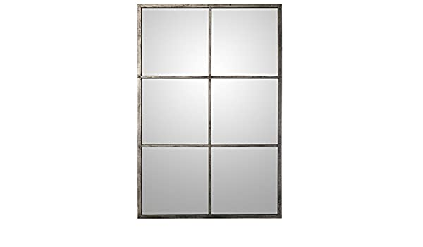 Select Mirrors Espejo Cuadrado de Metal para Ventana de Camden 60 cm x 60 cm Metal r/ústico