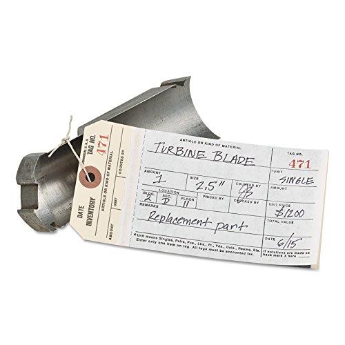Avery 15370 Manifold Inventory Tags, 1-500, 6 1/4 x 3 1/8, Manila/White (Box of 500)