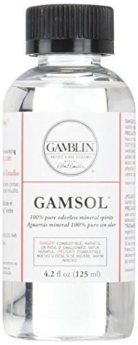 Liquin Light Gel - Gamblin Gamsol Odorless Mineral Spirits Bottle, 4.2oz