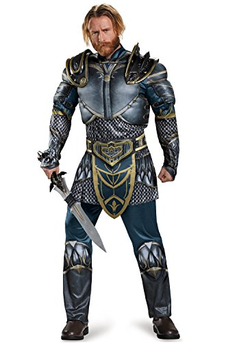 Disguise Men's Warcraft Lothar Muscle Costume, Multi, (The Craft Movie Halloween Costume)