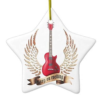 Keep On Rocking guitarra eléctrica alas DoubleSided adorno de ...