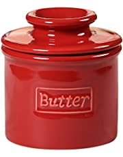 Butter Bell - The Original Butter Bell Crock by L. Tremain, French Ceramic Butter Dish, Café Matte & Retro Collection