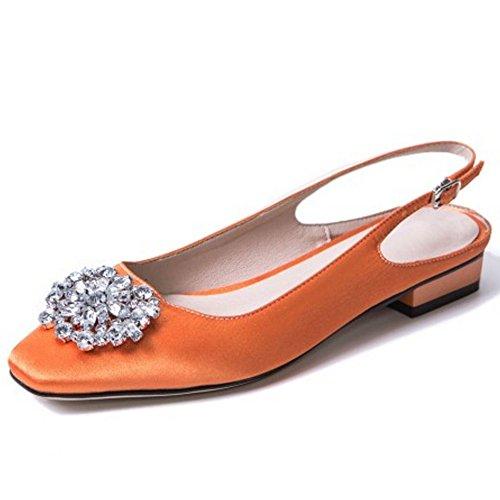 Razamaza Escarpins bas talons orange à daqdFrw