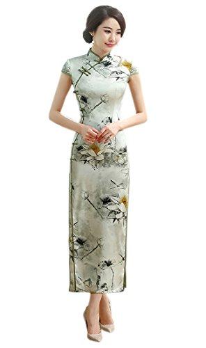 YueLian Women's Long Chinese Style Wedding Dress Qipao Cheongsam Party Dress China M= US 2, 13)