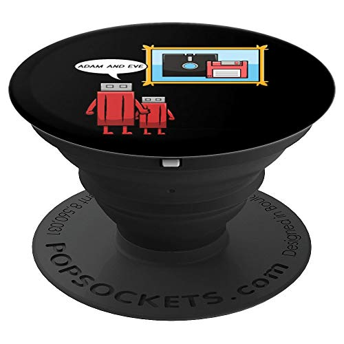 Funny Computer Nerd Geek IT USB Stick Floppy Disc PopSockets Grip and Stand for Phones and Tablets