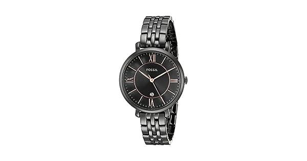 Amazon.com: Fossil Jacqueline Reloj, Negro: Fossil: Watches