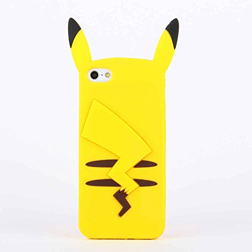 RAYTOP PIKACHU Soft Silicone Back Case Cover for Apple iPhone 5 5s Protective Skin Jacket Cheap Kids Girls Japanese Cartoon Cute Lovely Photo - Pokemon Gaming