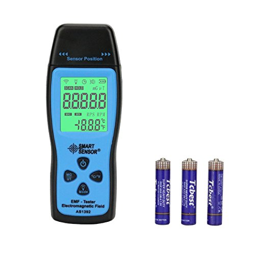 EMF Meter KKmeter Electromagnetic Field Radiation Detector Handheld EMF Detector Digital LCD Radiation Meter ()