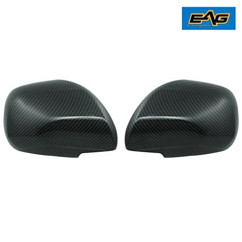 E-Autogrilles Black Carbon Fiber Look ABS Mirror Covers for 03-09 Toyota 4Runner (65-0507CF)