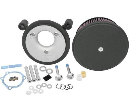 Arlen Ness 18-821 Black Big Sucker Stage II Air Filter Kit with Cover