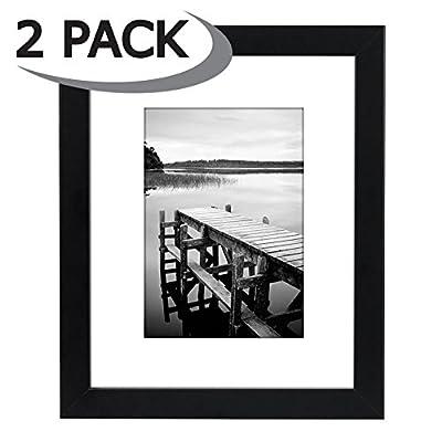 Americanflat Black Frame - White Mats - Hanging Hardware Included