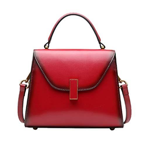 La De del La De Alta Superiores Bolso Red Hombro Color Bolso Suave De Brown Bolso Bolsos del Mujer Crossbody Bolso Ocio Capacidad del 8EOXqwS7
