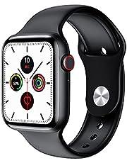 FK88 Smart Watch, series 6 1.78 Inch HD Screen With Encoder Knob bluetooth Music call heart rate monitor Music Women Men smartwatch - Black
