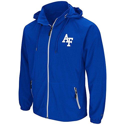 Blue Reversible Zip Hoody Sweatshirt - Mens Air Force Falcons Full Zip Wind Jacket - M
