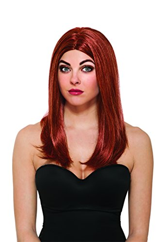 Rubie's Costume Women's Marvel Universe Captain America Soldier Black Widow Wig, Multicolor, One (Womens Marvel Costumes For Sale)
