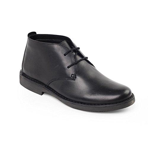 Black Passform Padders G Herren UK Horn Wüstenstiefel Fußpflege Shoe Boot Weite Alltagsstiefel 'Joe' Desert Padders stilvoller Kostenlose Absatz 25mm Suave Leather Men's 1qqOC
