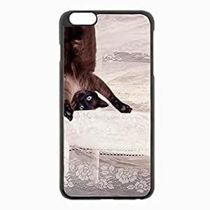 iPhone 6 Plus Black Hardshell Case 5.5inch - playful shower curtain Desin Images Protector Back Cover