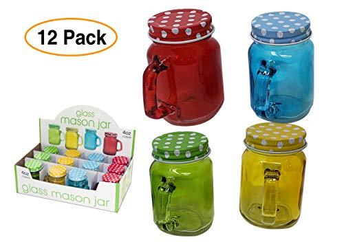 green mason jars with handles - 6