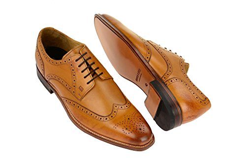 Gordon & Bros Milan 4371Uomo Business Scarpe, Scarpe basse uomo, tuta, Derby Goodyear In Pelle Tan-A