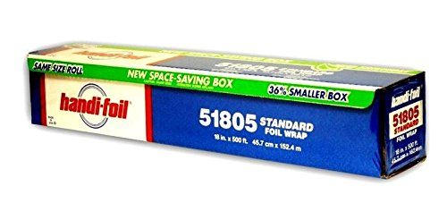 Handi-Foil 18''x500' Premium Standard Aluminum Foil Wrap Roll - Eco Space Saver! (pack of 4) by Handi-Foil