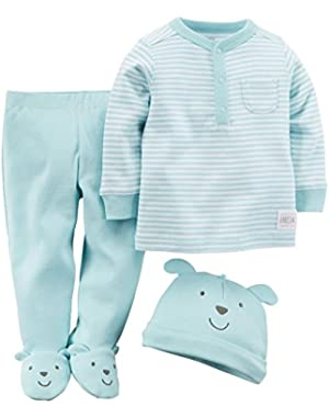 Carter's Baby Boys' 3 Piece Footed Set (Baby)