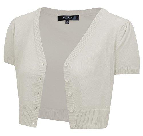 Cap Sleeve Cardigan Sweater - Cap Sleeve Crop Cardigan, 29Colors, Vintage Inspired, Pinup, by Mak MK2137-OAT-L