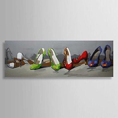 Pi Zapatos Alto Al De Los Pintada Mano Óleo A Pintura Aún Tacón 1KJTcFl3