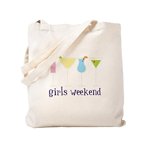 Funny Girl Tote - CafePress Girls Weekend Natural Canvas Tote Bag, Cloth Shopping Bag