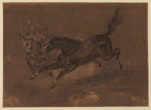 Artisoo Horses running–サイズ: 30x 22inches–Eugene Delacroixの商品画像