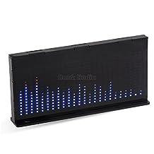 Nobsound 1424 Music Spectrum Audio Spectrum Sound Level LED Level Meter Display Analyzer for HiFi (Black)