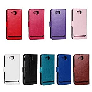 Horse Grain PU Leather Full Body Cover with Stand and Case for Samsung ATIV S I8750 (Assorted Colors) , Rose