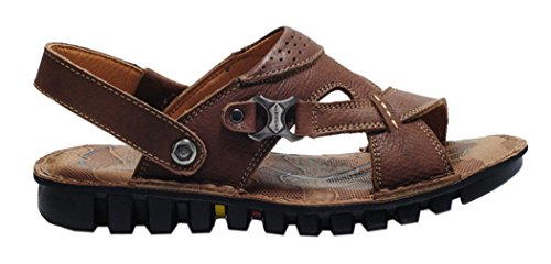 Guciheaven Mens 2015 New First Layer Of Leather Casual Summer Sandals(9 D(M)US, Tan)