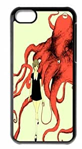 Great iphone 5cC Cases Octopus Back Covers Durable Case