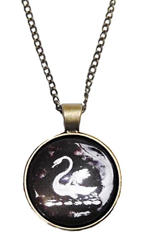 [Once Upon A Time SWAN Glass Dome PENDANT on 20
