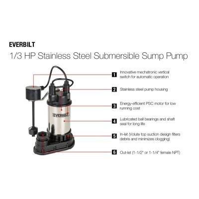 Everbilt 1/3 HP Submersible Sump Pump by Everbilt (Image #1)