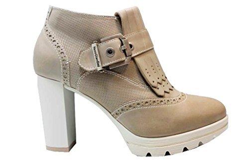Bottines NeroGiardin à Sable Sable Chaussure P805201D Chaussures Talon Femmes Gros pour PtCwqgxt