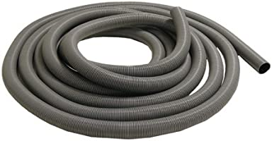 Fully Stretched Gray 2.5 ID x 25ft Length Hose Rubber-Cal PE Flex Commercial Flexible Duct Hose