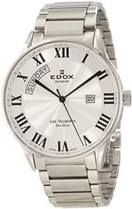 EDOX 83011 3B AR - Reloj de pulsera hombre, acero inoxidable, color plateado