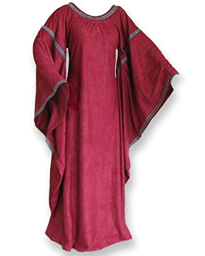 Sca Costumes (Medieval Bell Sleeve Dress Gown SCA Game of Thrones Cosplay Costume)
