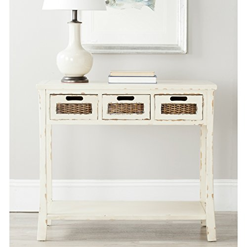 Safavieh American Homes Collection Autumn 3-Drawer Console Table, White