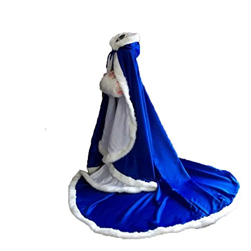 Chupeng Women's Winter Wraps Cape Faux Fur Wedding Long C...