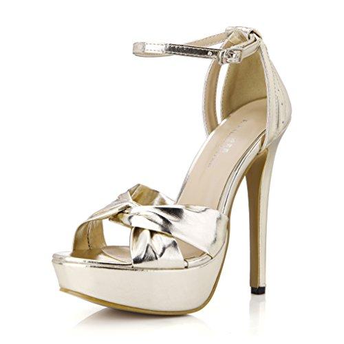 Dress Platform Sandal Pumps Women Open Toe High Heels Dolphin Girl Comfort Party Shoes Prime Golden