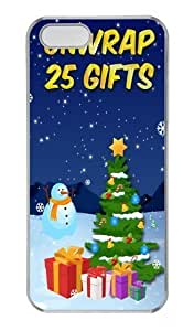 25c days of Christmas Custom iPhone 5c Case Cover Polycarbonate Transparent Black Friday gift