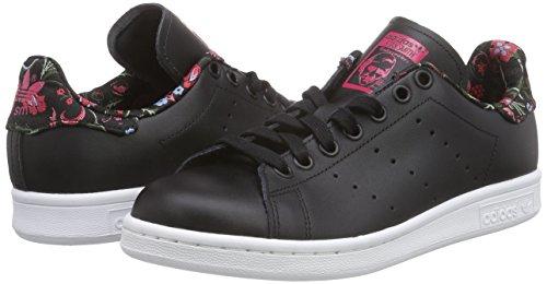 adidas Stan smith W S77348, Turnschuhe Schwarz (Core Black/Core Black/Vivid Berry S14)