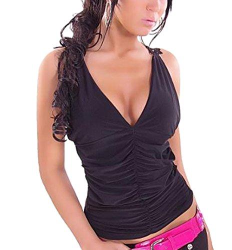Nero Bluse Vest Moda Collo Canotte Profondo Senza Strette Pizzo Sexy V Estivo Camicie Tank Donne Cucitura Top Schienale U1FfHqTf