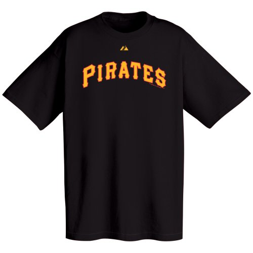 MLB Pittsburgh Pirates Wordmark T-Shirt, Large, Black ()